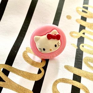 Hello Kitty pink Sanrio silver adjustable ring